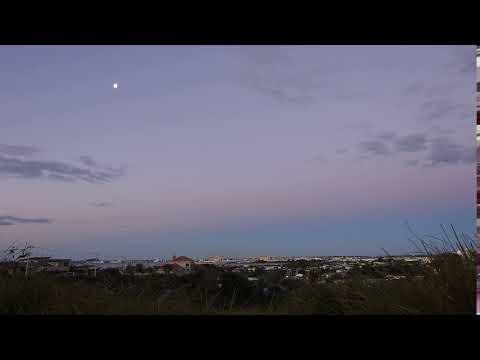 Sunset Time Lapse - Belt of Venus - Moon - Port of Tauranga - Nikon P900