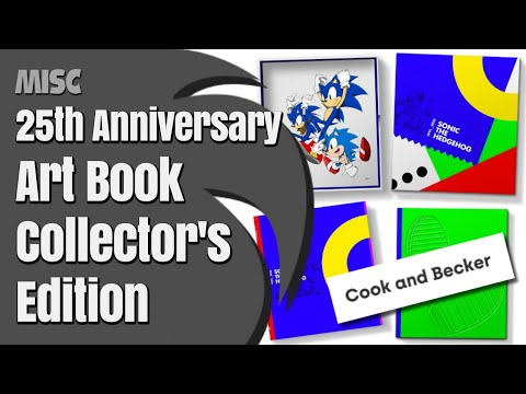 Sonic The Hedgehog 25Th Anniversary Art Book - Collector's Edition