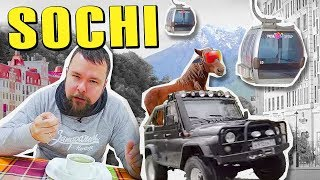 Sochi, Russia on $100. Mountains, Jeeps and Markets.