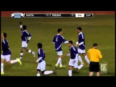 Ruben Monsivais of Fresno High scores a goal