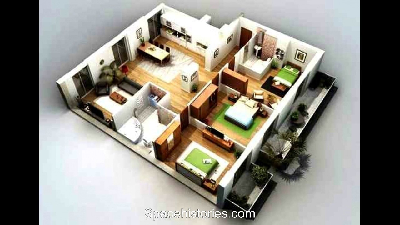 Desain Rumah 3 Kamar Tidur Sederhana - YouTube