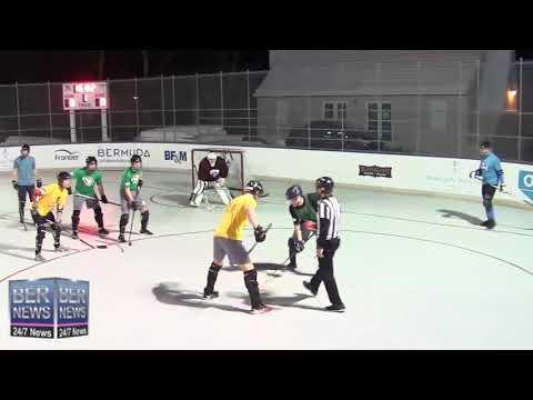 Bermuda Ball Hockey League Game, February 2020