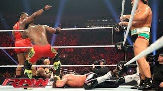 Dolph Ziggler & The Dudley Boyz vs. Rusev & The New Day: Raw, Sept. 21, 2015