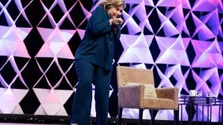 Hillary Clinton has shoe thrown at her during speech in Las Vegas