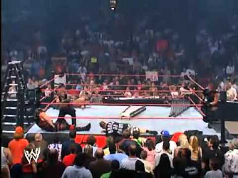 Rob Van Dam hits Kane with Van-Terminator  (Jeff hardy Holds Chair)