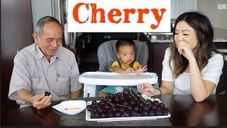 Ăn Cherry Cuối Mùa Với Ông Ngoại 83 Tuổi Ở Vietnam Qua Chơi (Cherry MUKBANG w/ My Grandpa)