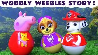 Peppa Pig and Paw Paw Patrol Wobbly Weebles Toy Story English Episode In The Park TT4U