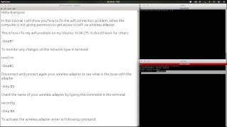 How to - Fix Wifi Disabled - Ubuntu 16.04 LTS (Enabling Wifi)