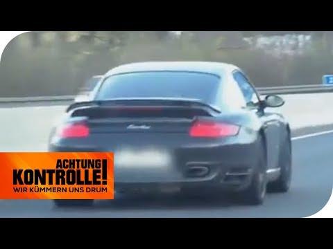 Porsche-Wahnsinn - Raser kaum aufzuhalten: Wie schnell ist er?   Achtung Kontrolle   kabel eins