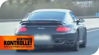 Porsche-Wahnsinn - Raser kaum aufzuhalten: Wie schnell ist er? | Achtung Kontrolle | kabel eins