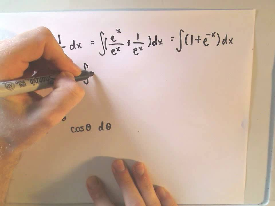 Integrating Exponential Functions Examples 1 And 2 Youtube