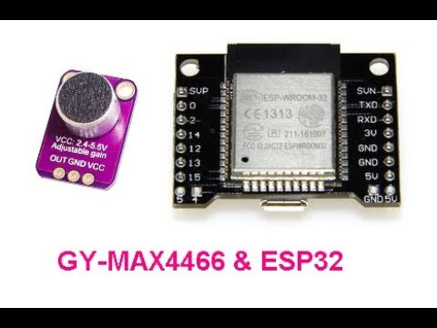 GY-MAX4466 microphone ESP32 recording audio uploading to # Slack
