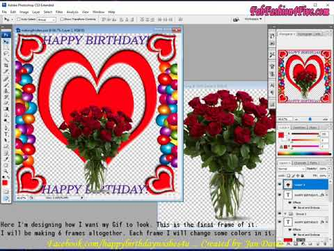 Making A Happy Birthday Gif For My Facebook Fanpage