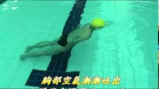 5鼻子吐氣身體下沉  岸上攝影  水面上  側面示範  Produce.mpg