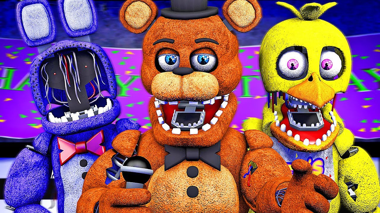 Five Nights at Freddy's Song (FNAF 2 SFM Withered)(µThunder Remix)