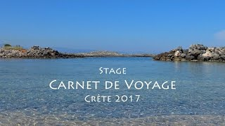 Stage de dessin carnet de voyage en Crète 2017
