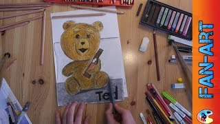 Ted 2 fanart speed draw Ted speed drawing Ted 2 Zeichnung FullHD 1080p 2015 PassiRein