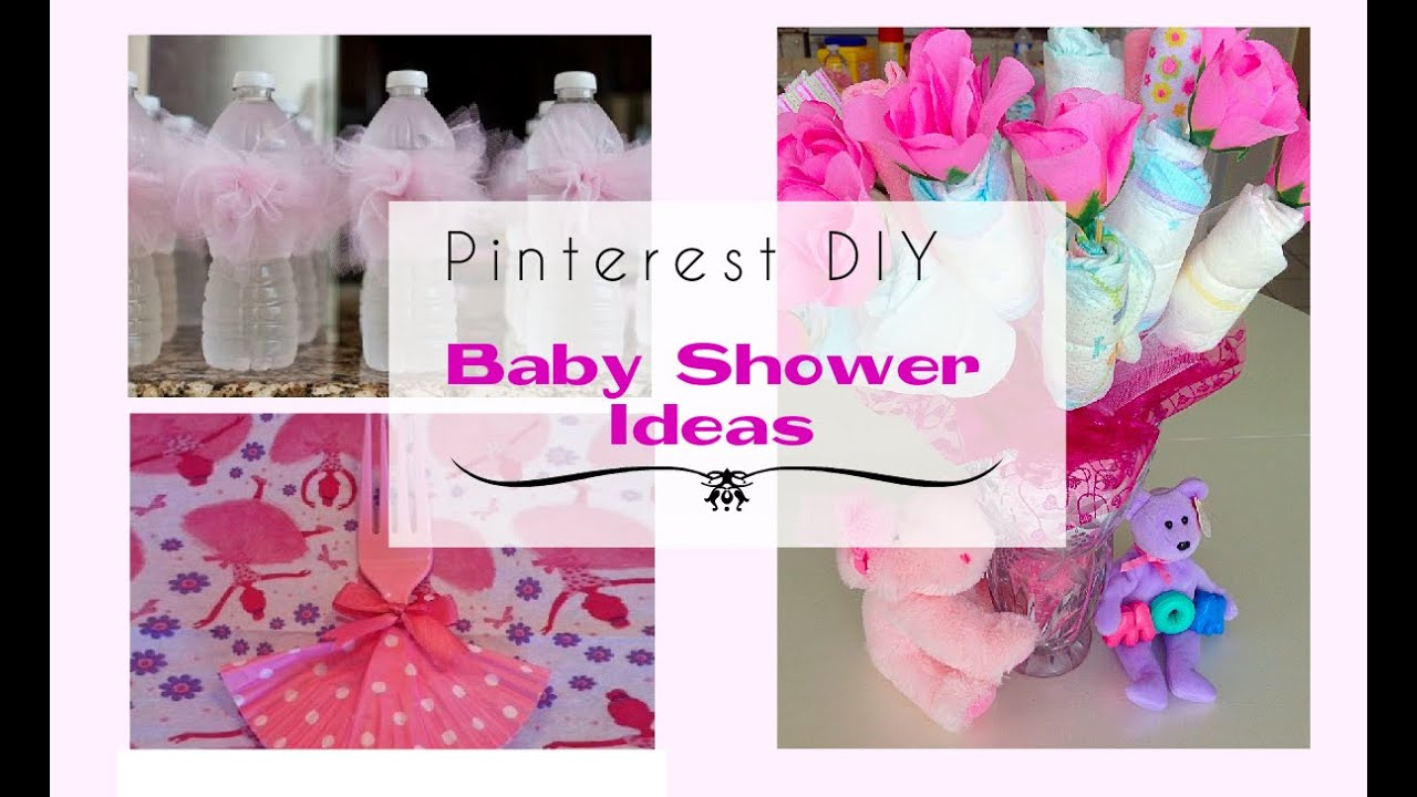 Pinterest diy baby shower ideas for a girl youtube for Baby shower decoration ideas for girl