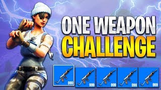*NEW* ONE WEAPON CHALLENGE in Fortnite: Battle Royale! (BEST WEAPONS)