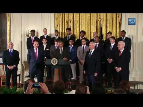 President Obama Welcomes the NCAA Champion Duke Blue Devils Men's Basketball Team