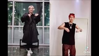 Jackson Wang && Youngjae doing  #VibinChallenge  i r…