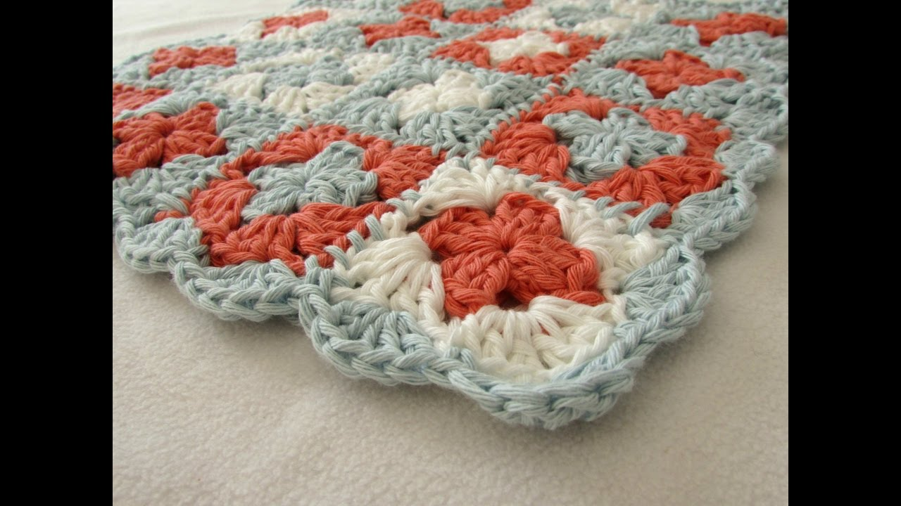 How To Crochet A Beginners Mini Granny Square Blanket
