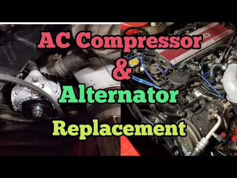 Nissan 300zx Z31 Alternator And Ac Compressor Replacment