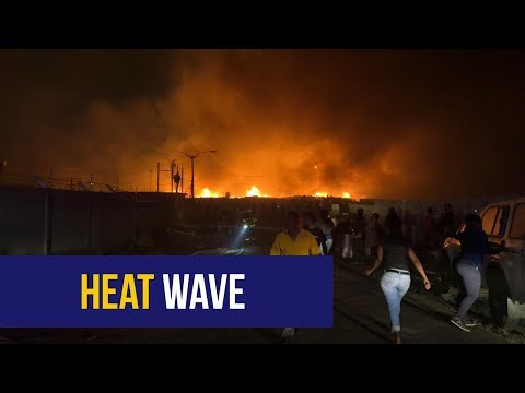 WATCH: Firefighters battle 'out of control' blaze in Vrygrond, Cape Town amid heatwave