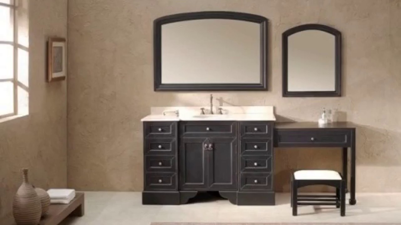 Single Sink Bathroom Vanity With Makeup