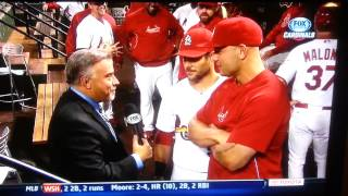 Matt holliday pranking Jim Hayes funny!