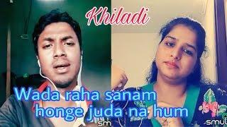 Wada raha sanam। khiladi। abhijit। my karaoke 104.
