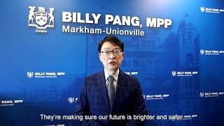 #MedLabThx: MPP Billy Pang - Markham Unionville