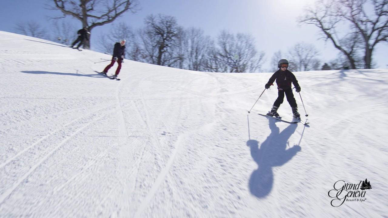 wisconsin's best ski resort - the mountaintop at grand geneva - youtube