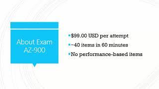 Overview: Exam AZ-900 Microsoft Azure Fundamentals
