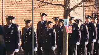 Sea of blue for slain NYPD officer's funeral