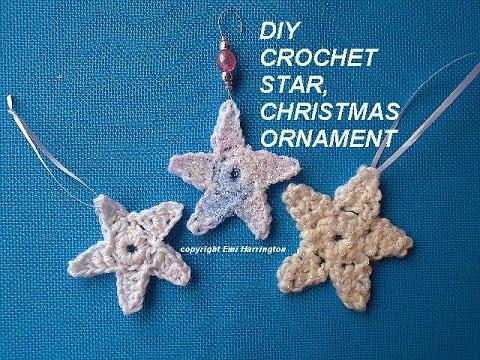 Diy How To Crochet Star Christmas Ornaments Youtube