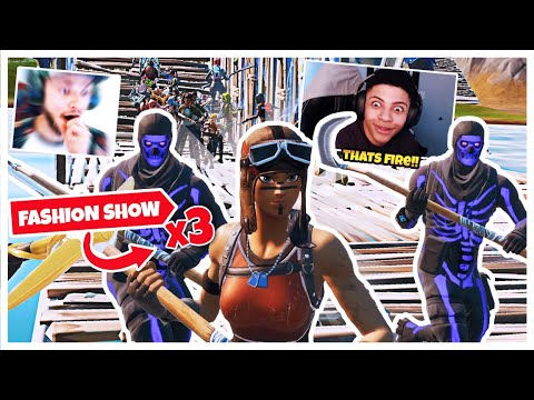 WE STREAM SNIPED A FORTNITE FASHION SHOW AND WON 3 TIMES IN A ROW