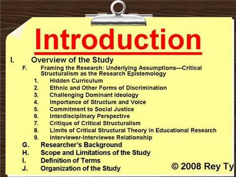 Sample Qualitative Research Outline -- Rey Ty - Youtube