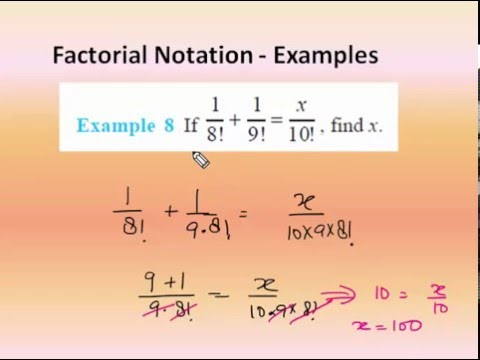Factorial Notation - Permutations and Combinations (in ...