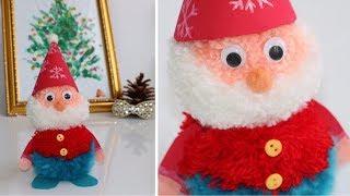Сказочный НОВОГОДНИЙ ГНОМ из помпонов /Christmas Gnome from pompons