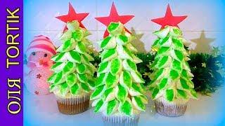 Новогоднее пирожное ЁЛОЧКА Сake decoration /// Olya Tortik