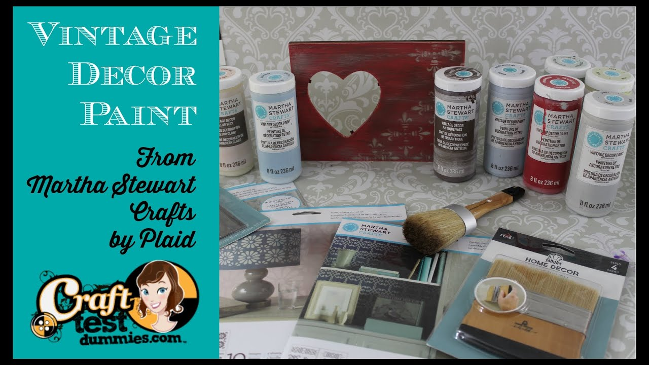 Vintage Decor Paint From Martha Stewart Crafts Youtube