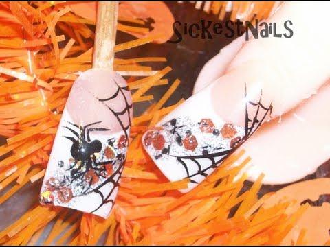 Halloween Series: Simple Spiderweb nails / Diseño de ...