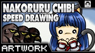 VIDEO GAME SPEED DRAW! Nakoruru Chibi - An SNK Heroine?