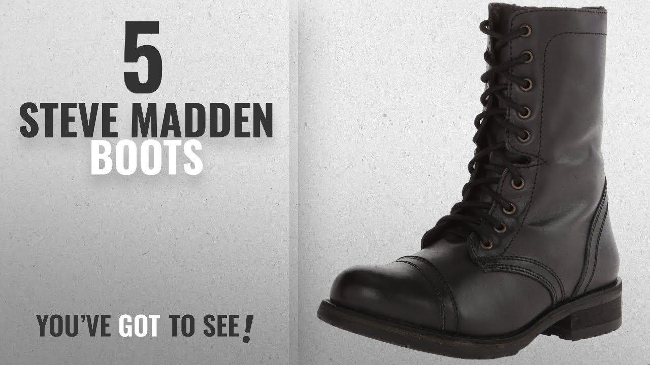 2ee52ad12a5 Top 5 Steve Madden Boots  2018   Steve Madden Women s Troopa 2.0 ...
