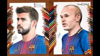 Compilation of some of the FC Barcelona players drawing that I did on 2017.