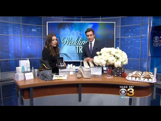3000BC Featured On CBS3 News With Modern Luxury Wedding