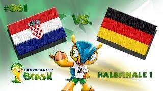 FIFA Fußball Weltmeisterschaft 2014 #61 - Kroatien - Deutschland (Halbfinale 1)
