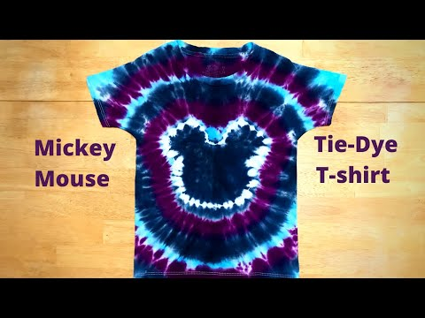 How To Tie Dye A Mickey Mouse T-Shirt   Step By Step Instructions
