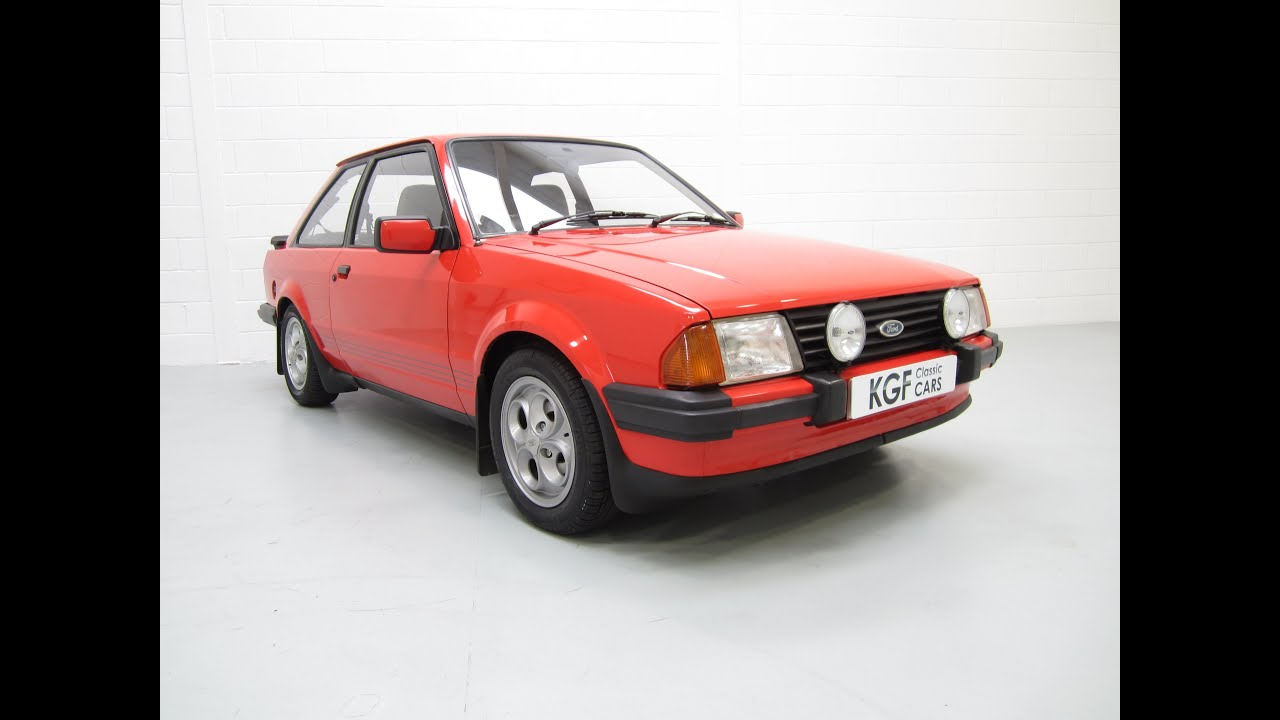 Original Ford Escort XR3, Two Owners, Documented Low Mileage ...